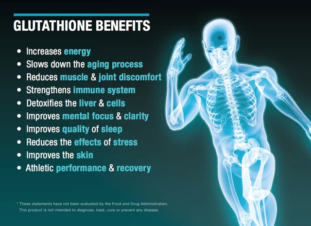 There are many health benefits of maintaining your glutathione levels