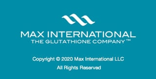 Max International logo and contact details